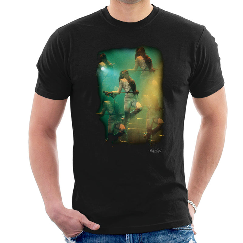 Freddie Mercury In White Queen On Stage Men's T-Shirt
