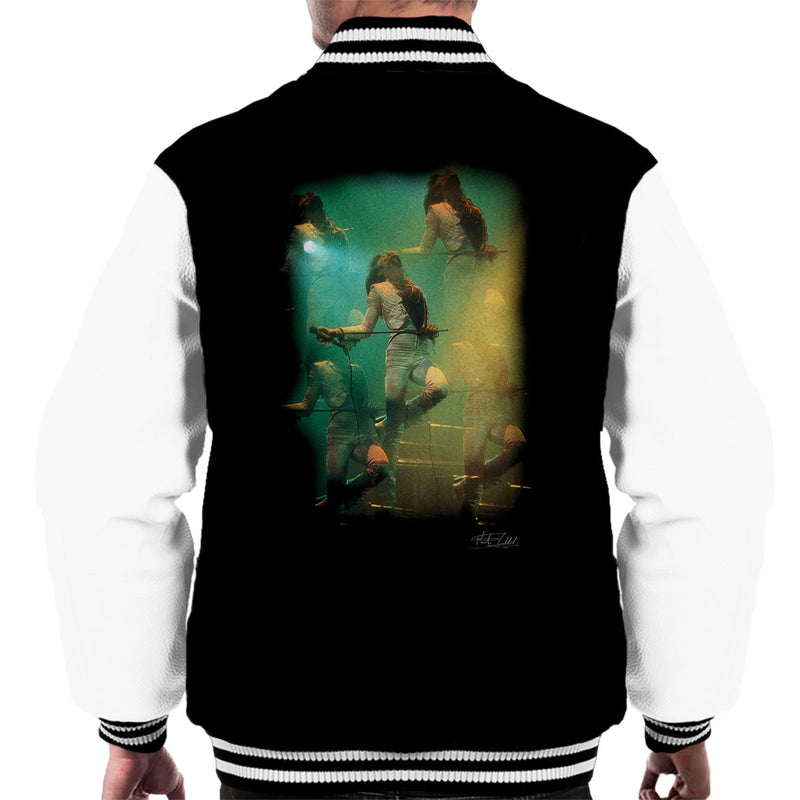 Freddie Mercury In White Queen On Stage Men's Varsity Jacket