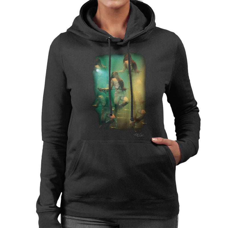 Freddie Mercury In White Queen On Stage Women's Hooded Sweatshirt