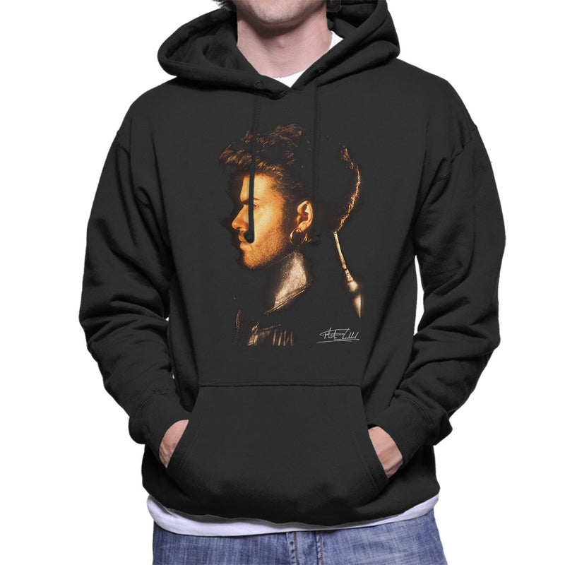 George Michael Side Profile 1986 Men's Hooded Sweatshirt