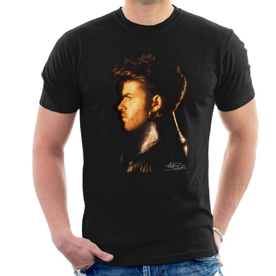 George Michael Side Profile 1986 Men's T-Shirt - Don't Talk To Me About Heroes