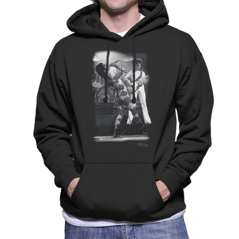 Queen On Stage In London 1976 Men's Hooded Sweatshirt - Don't Talk To Me About Heroes