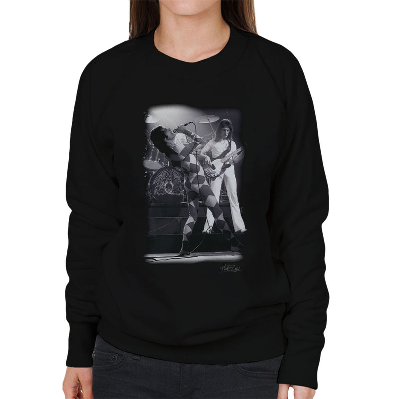 Queen On Stage In London 1976 Women's Sweatshirt