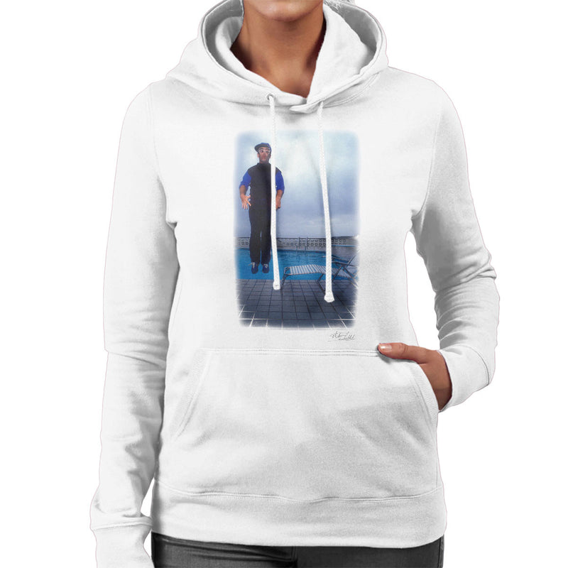 Elton John Jump White Women's Hooded Sweatshirt