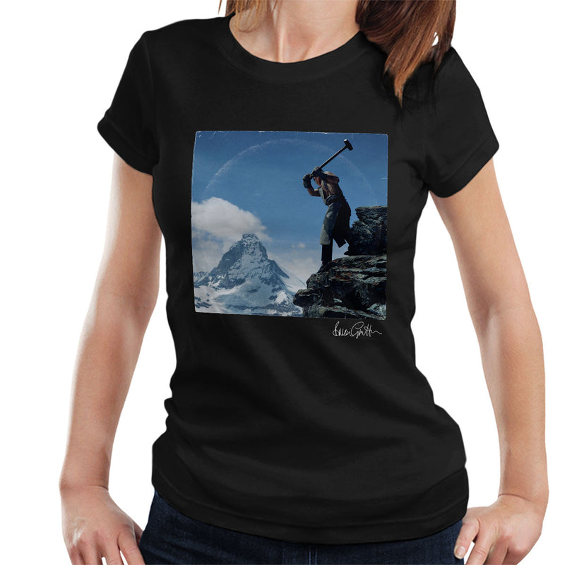 Depeche Mode Construction Time Again Sleeve Alternate Women's T-Shirt - Don't Talk To Me About Heroes