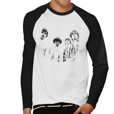 Pink Floyd Ruskin Park Shoot 1967 Black And White Men's Baseball Long Sleeved T-Shirt