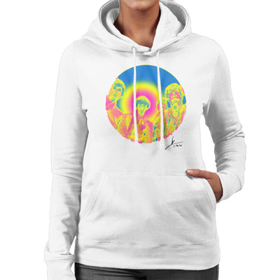 Pink Floyd Ruskin Park Shoot Infrared 1967 Black Women's Hooded Sweatshirt
