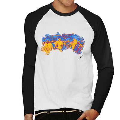 Pink Floyd Ruskin Park Shoot Floral Blue 1967 Black Men's Baseball Long Sleeved T-Shirt