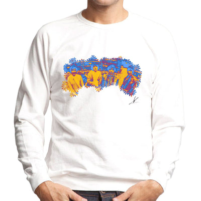 Pink Floyd Ruskin Park Shoot Floral Blue 1967 Black Men's Sweatshirt