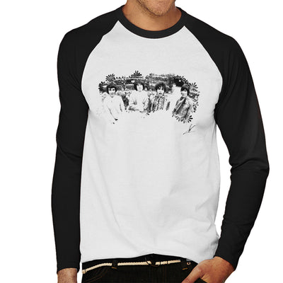Pink Floyd Ruskin Park Shoot Floral 1967 Black And White Men's Baseball Long Sleeved T-Shirt