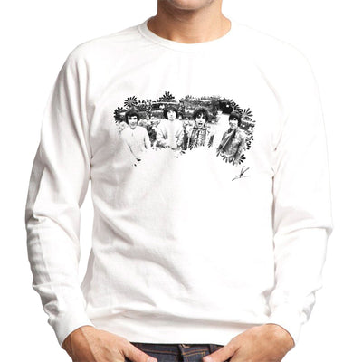 Pink Floyd Ruskin Park Shoot Floral 1967 Black And White Men's Sweatshirt