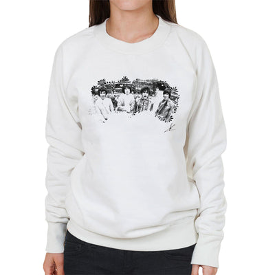 Pink Floyd Ruskin Park Shoot Floral 1967 Black And White Women's Sweatshirt