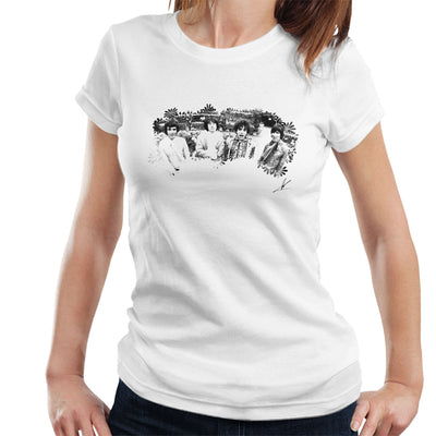 Pink Floyd Ruskin Park Shoot Floral 1967 Black And White Women's T-Shirt