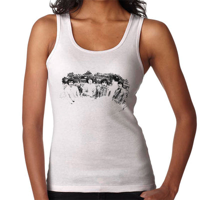 Pink Floyd Ruskin Park Shoot Floral 1967 Black And White Women's Vest - Don't Talk To Me About Heroes