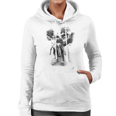 Pink Floyd Gates Of Dawn Cover Outtake Black And White Women's Hooded Sweatshirt