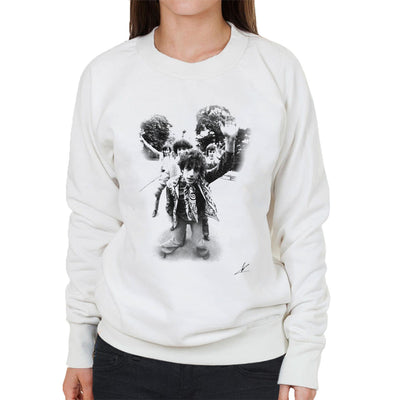 Pink Floyd Gates Of Dawn Cover Outtake Black And White Women's Sweatshirt