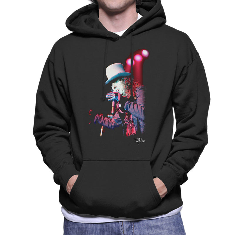 Alice Cooper Top Hat Performing Men's Hooded Sweatshirt - Don't Talk To Me About Heroes