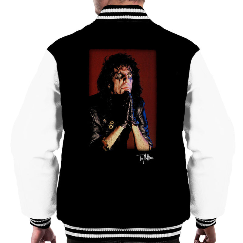 Alice Cooper Praying Hands Men's Varsity Jacket - Don't Talk To Me About Heroes