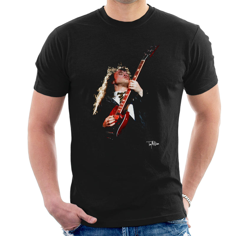 Angus Young ACDC 1988 Men's T-Shirt - Don't Talk To Me About Heroes