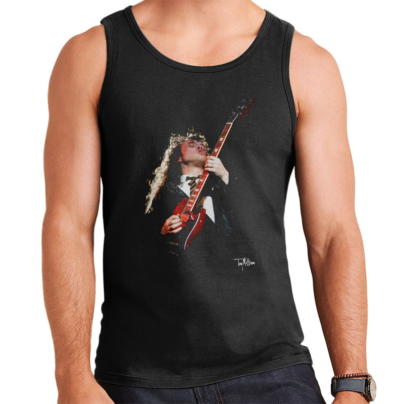 Dont Talk To Me About Heroes Tony Mottram Official Photography Angus Young ACDC 1988 Mens Vest