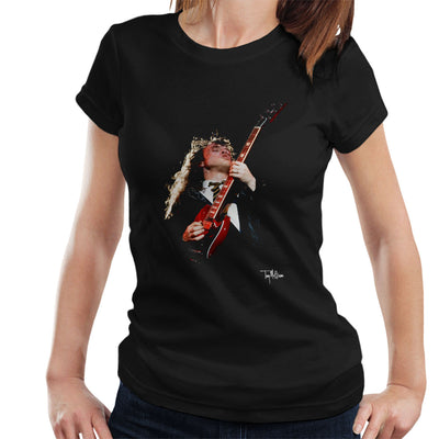 Angus Young ACDC 1988 Women's T-Shirt - Don't Talk To Me About Heroes