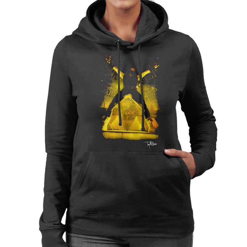 Iron Maiden Bruce Dickinson Performing Women's Hooded Sweatshirt