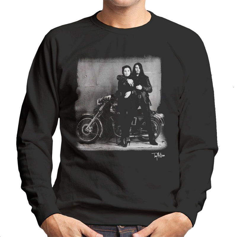 Ian Astbury And Renee Beach Motorbike Men's Sweatshirt - Don't Talk To Me About Heroes