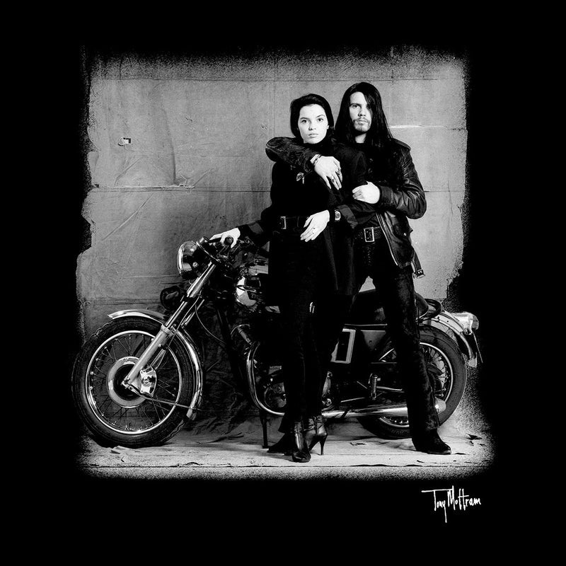 Ian Astbury And Renee Beach Motorbike Women's Hooded Sweatshirt - Don't Talk To Me About Heroes