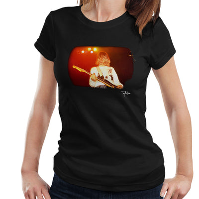 Kurt Cobain Singing Live Guitar Women's T-Shirt - Don't Talk To Me About Heroes