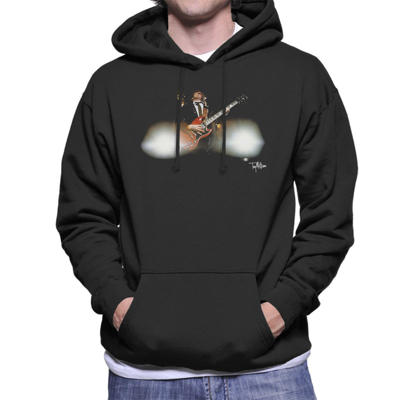 Angus Young Guitar ACDC 1988 Men's Hooded Sweatshirt - Don't Talk To Me About Heroes