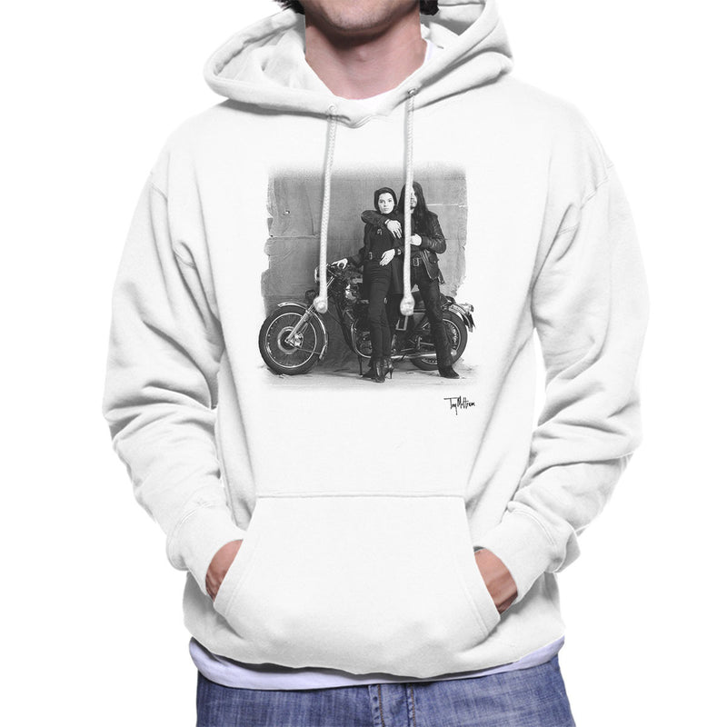 Ian Astbury And Renee Beach Motorbike White Men's Hooded Sweatshirt - Don't Talk To Me About Heroes
