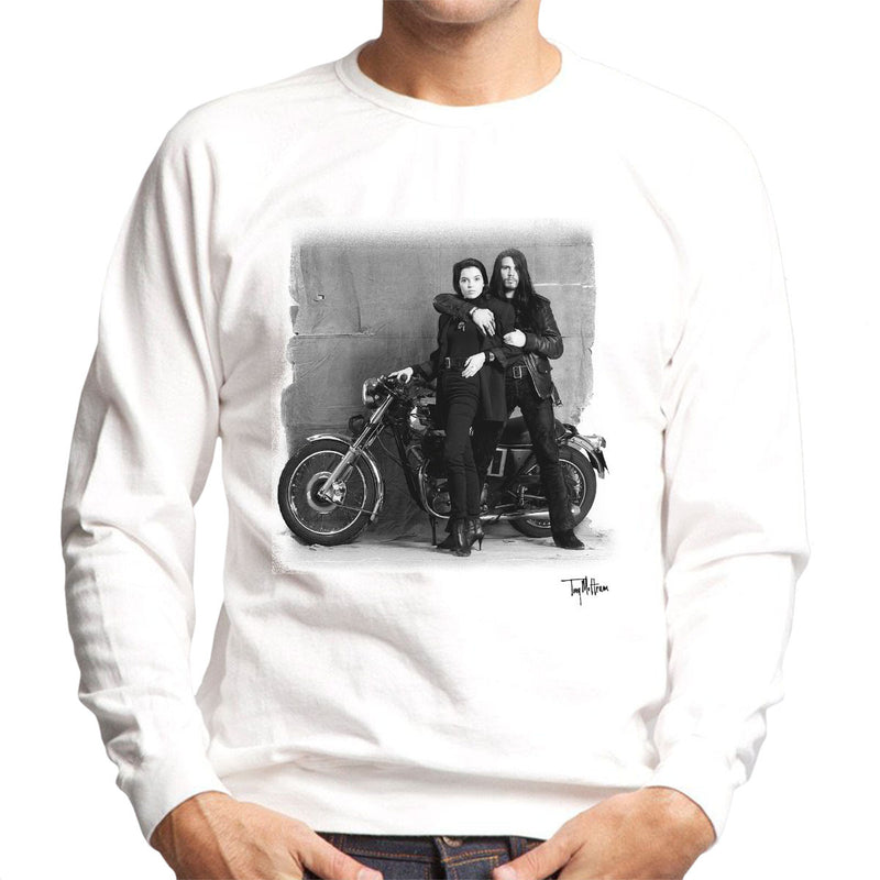 Ian Astbury And Renee Beach Motorbike White Men's Sweatshirt