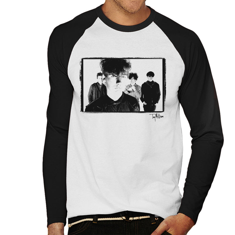 Jesus And Mary Chain Band Shot Jim Reid Close Up Men's Baseball Long Sleeved T-Shirt