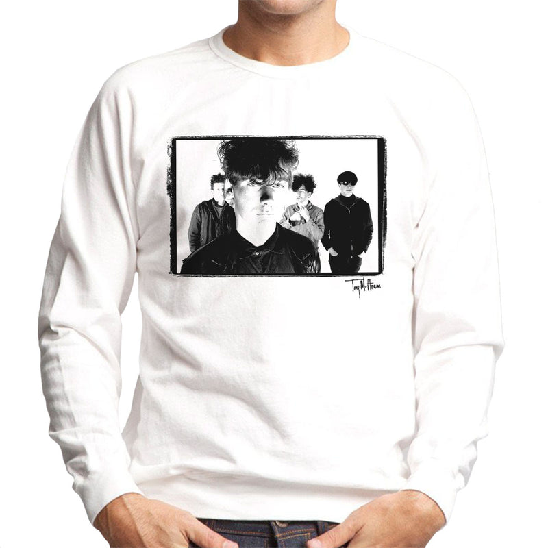 Jesus And Mary Chain Band Shot Jim Reid Close Up Men's Sweatshirt - Don't Talk To Me About Heroes