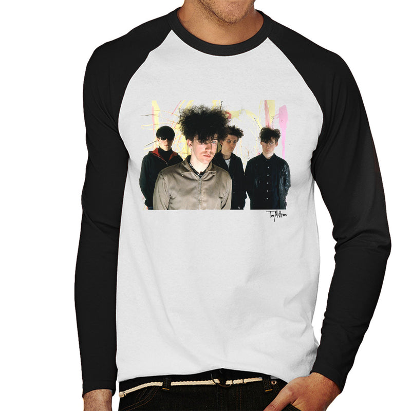 Jesus And Mary Chain Band Shot William Reid Close Up Men's Baseball Long Sleeved T-Shirt