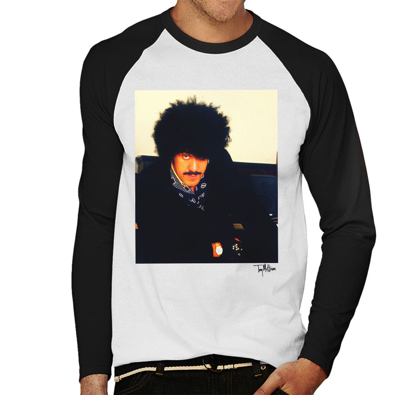 Thin Lizzy Phil Lynott Men's Baseball Long Sleeved T-Shirt - Don't Talk To Me About Heroes