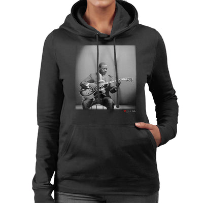 Wes Montgomery Playing Guitar 1964 Women's Hooded Sweatshirt - Don't Talk To Me About Heroes