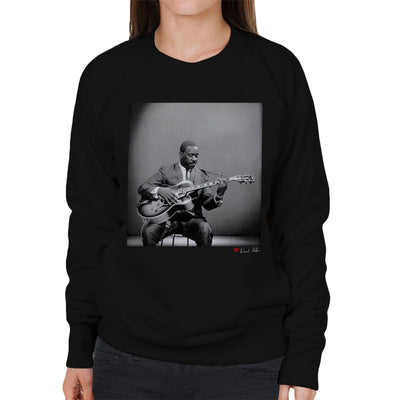 Wes Montgomery Playing Guitar 1964 Women's Sweatshirt - Don't Talk To Me About Heroes