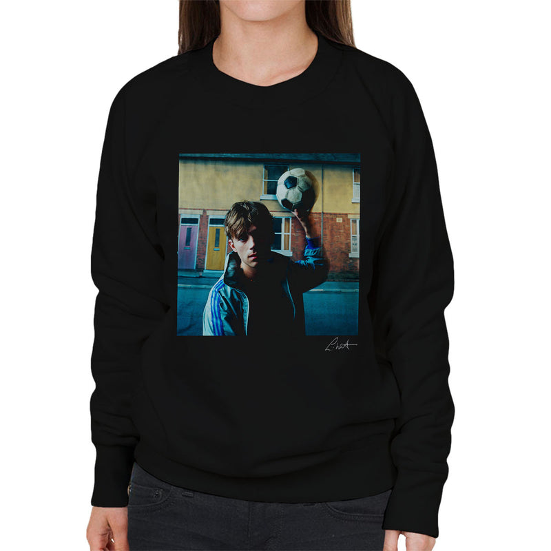 Damon Albarn Of Blur In London 1995 Women's Sweatshirt - Don't Talk To Me About Heroes