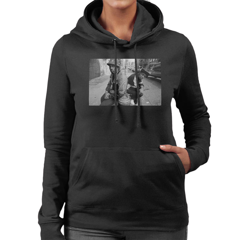 Eric B And Chuck D On The Streets Of New York 1980s Women's Hooded Sweatshirt