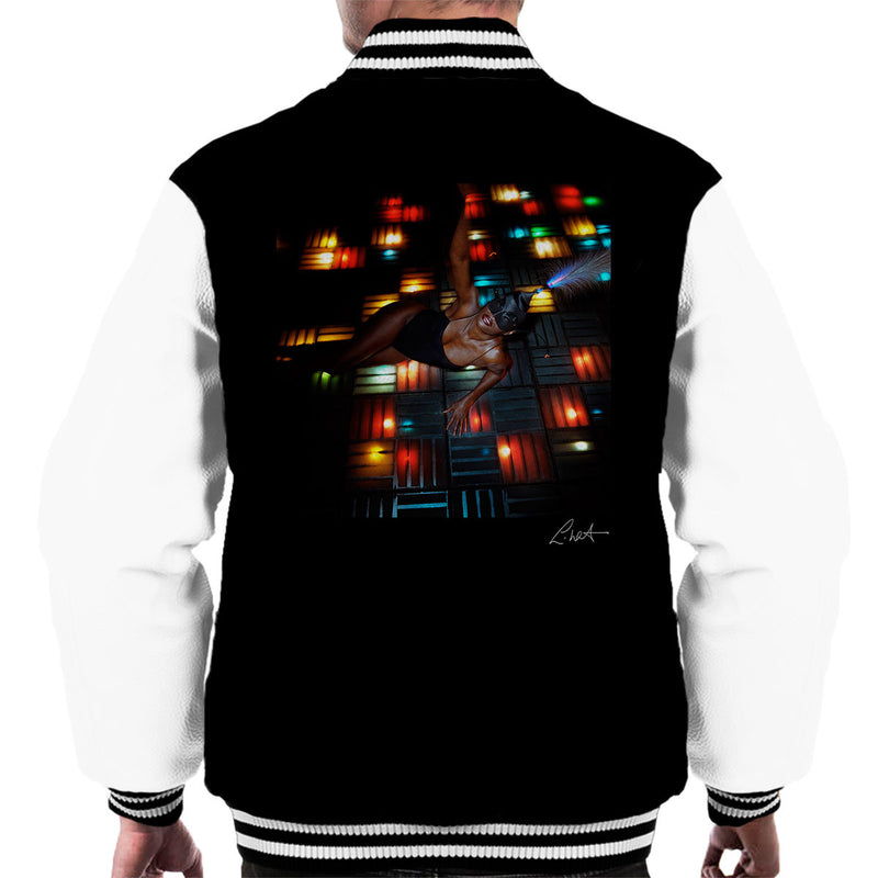 Grace Jones Disco Lights Photoshoot 2008 Men's Varsity Jacket - Don't Talk To Me About Heroes