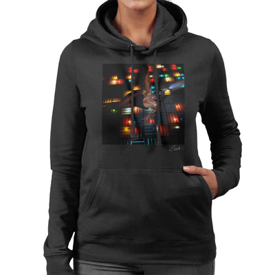 Grace Jones Disco Lights Photoshoot 2008 Women's Hooded Sweatshirt - Don't Talk To Me About Heroes