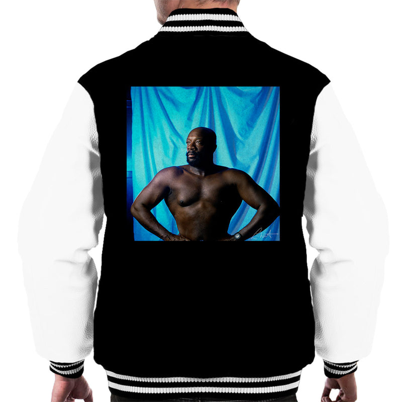 Isaac Hayes Topless Men's Varsity Jacket - Don't Talk To Me About Heroes