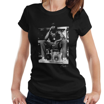LL Cool J Performing 1980s Women's T-Shirt - Don't Talk To Me About Heroes