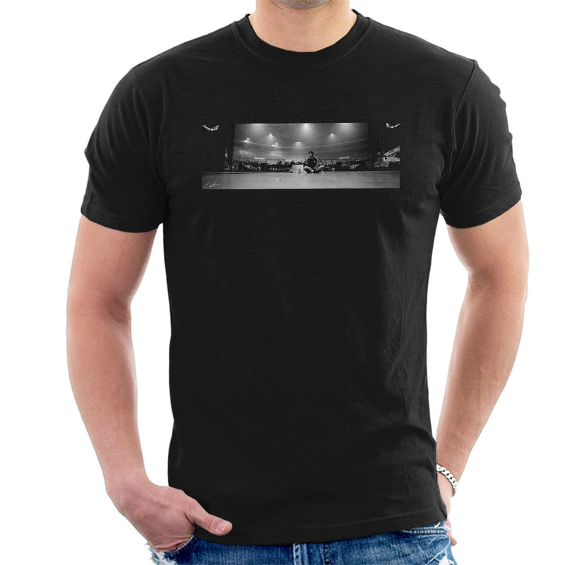 Liam Gallagher Oasis On Stage Panoramic Men's T-Shirt