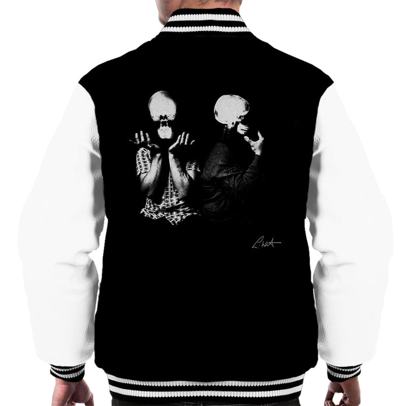 Orbital Skull X Ray Heads Men's Varsity Jacket - Don't Talk To Me About Heroes
