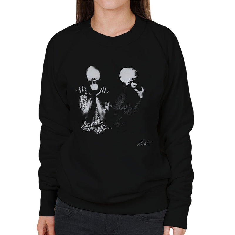 Orbital Skull X Ray Heads Women's Sweatshirt - Don't Talk To Me About Heroes