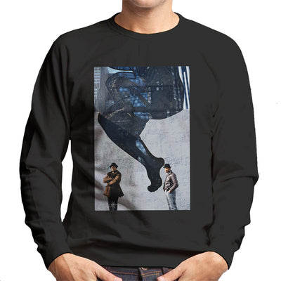 Run DMC In Front Of Woman Wall Mural Men's Sweatshirt - Don't Talk To Me About Heroes