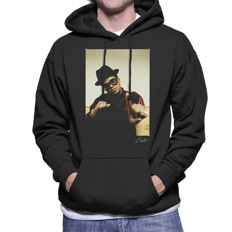 Run DMC Darryl McDaniels Pointing Men's Hooded Sweatshirt - Don't Talk To Me About Heroes