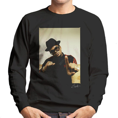 Run DMC Darryl McDaniels Pointing Men's Sweatshirt - Don't Talk To Me About Heroes